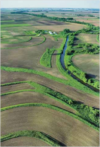 aerial view of conservation buffers