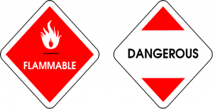 flammable and dangerous signage