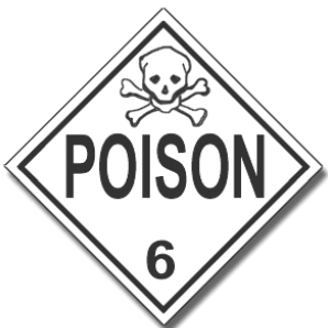 Poisonous materials placard