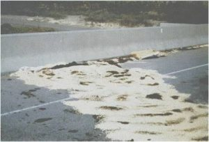 pesticide spill in the roadway