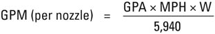 gallons per minute formula