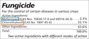 Fungicide label