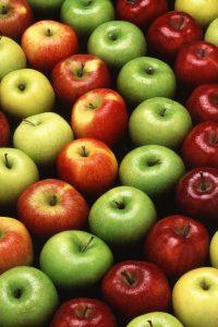 different varieties of apple fruit