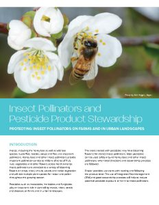 Insect Pollinators and Pesticide Product Stewardship June 2018 Cover