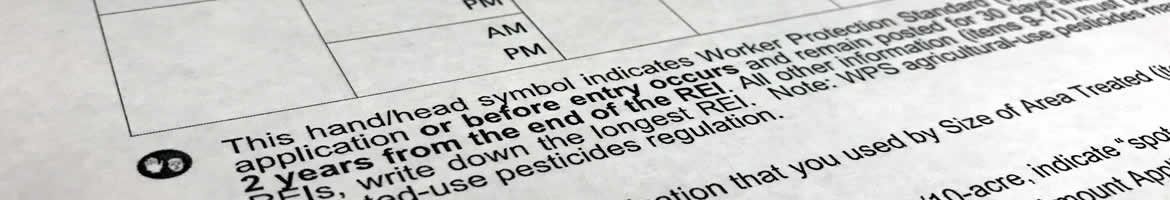 Pesticide application record keeping